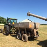 Loading of Fertilizer for applications to hay fields